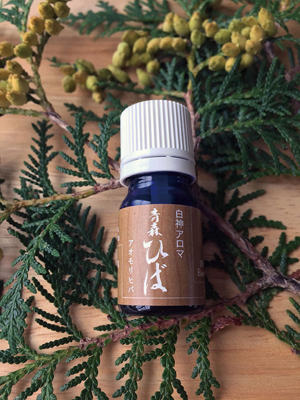 抗菌作用のあるヒノキオールを含む 青森ヒバの精油